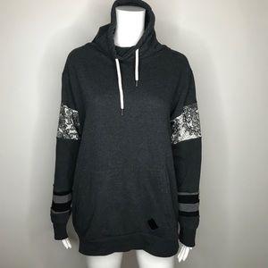 Trixy Xchange Gray Patchwork Sweatshirt Large